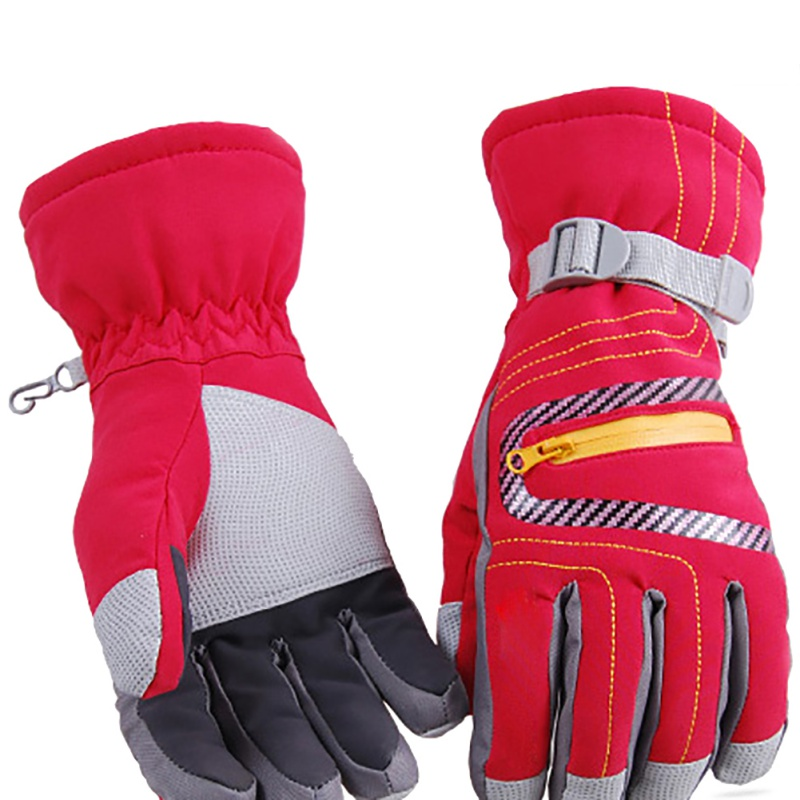 Winter Professional Ski Gloves Girls Boys Adult Waterproof Warm Thickness Gloves Snow Kids Windproof Skiing Snowboard Gloves New