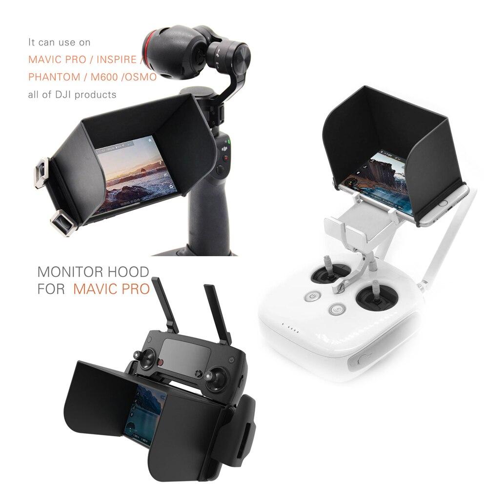 PGYTECH Contrôleur Couverture Soleil Capot Pour DJI Mavic Pro/Spark pour DJI Phantom 4/4 Pro/Phantom 3 Inspirer 1/2 Osmo Tablet Téléphone