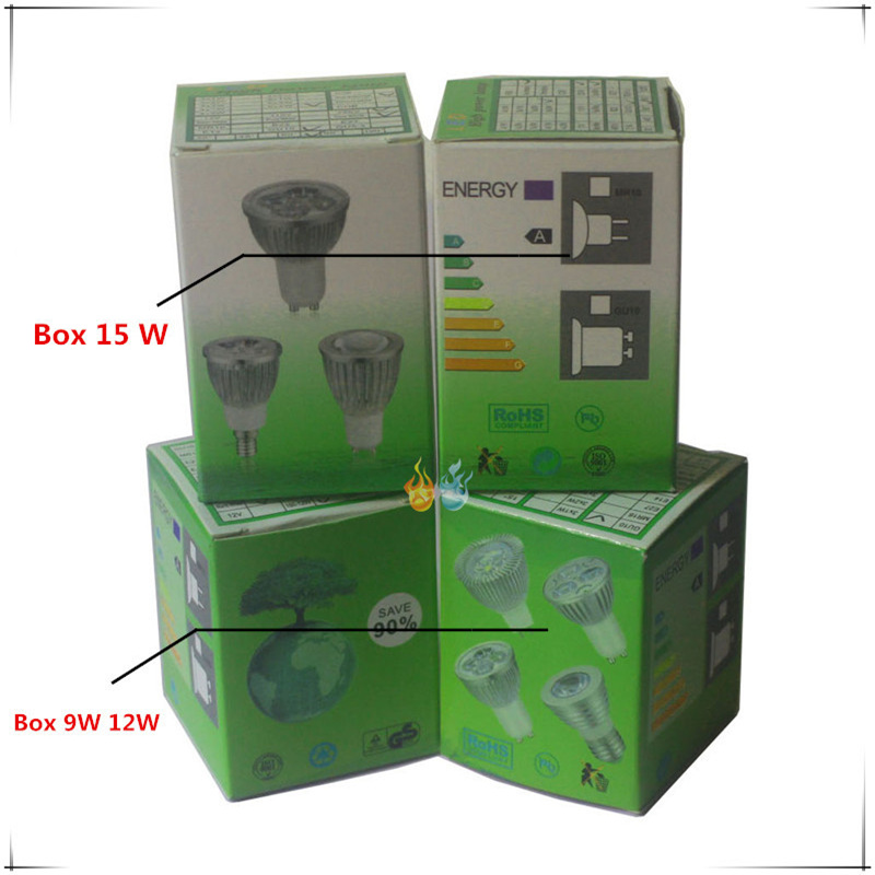 Купить с кэшбэком 10PCS LED Spotlight Dimmable led spot Lamp Super GU10 9W 12W 15W E27 E14 AC110V 220V MR16 AC&DC12V LED Spot LED Bulbs Lighting