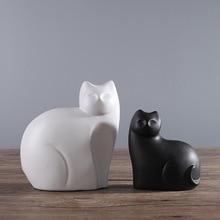 MRZOOT Creative ceramic home decoration accessories modern living room wine cabinet bedroom model cat decorative sculpture