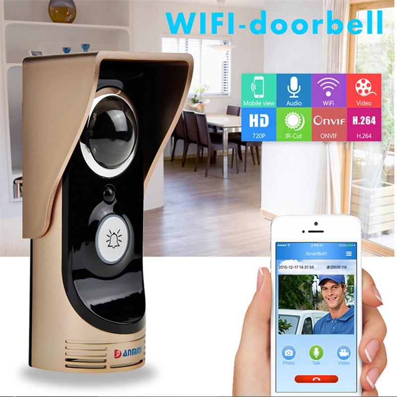 DANMINI 3.0 MP Door Intercom Camera Wireless Video Door Phone Video Intercom Speakerphone Intercom System IR Doorbell Camera