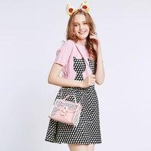 2017 Rosa Verano de Las Mujeres Compuesto Bag Set De Playa de PVC Transparente Bolsas de Hombro Pequeña Señoras Embrague bolsa de Mensajero Bolso