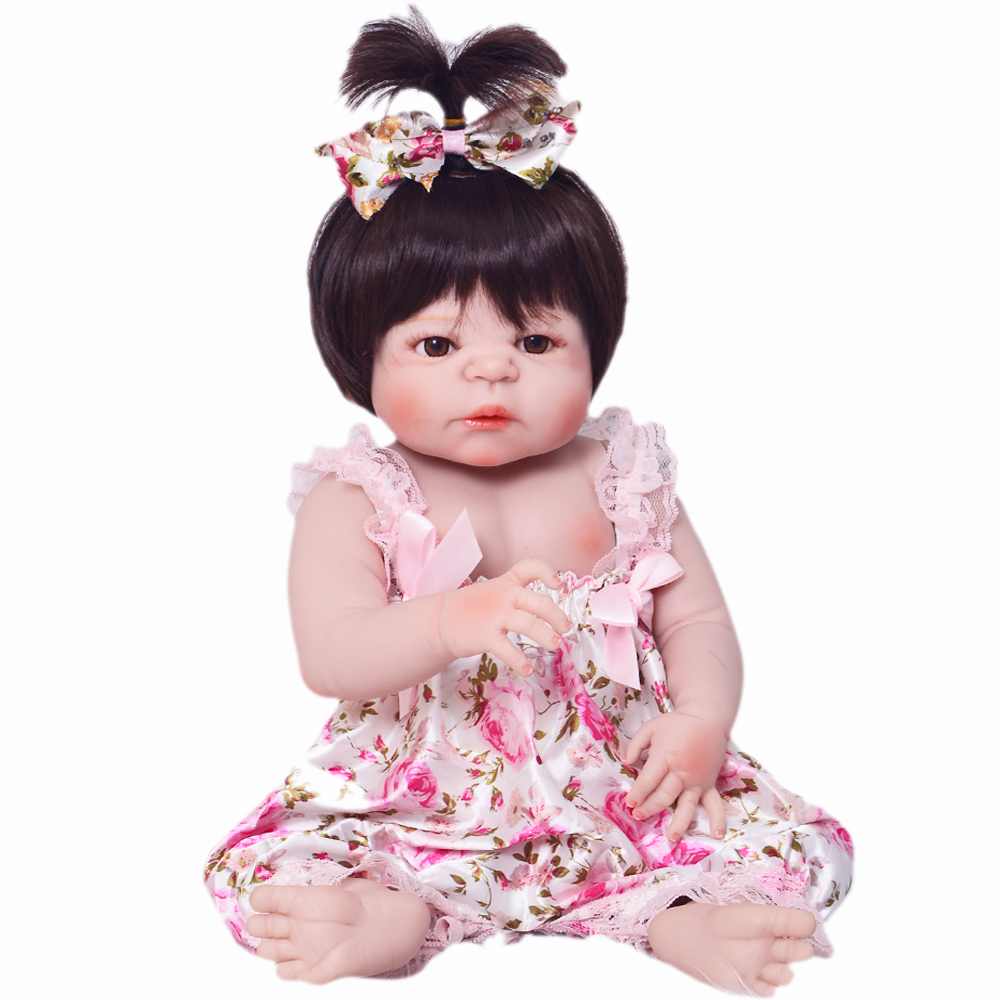 New Arrival 57cm Full Silicone Baby Doll 100% Handmade Reborn Babies Lifelike Girl Body For Kids Christmas or Birthday Xmas Gift