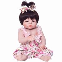 New Arrival 57cm Full Silicone Baby Doll 100 Handmade Reborn Babies Lifelike Girl Body For Kids