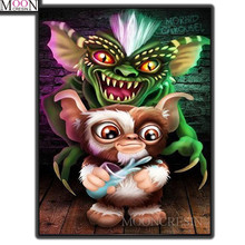 MOONCRESIN 5D Diy Diamond Painting Cross Stitch Cartoon Bat Embroidery Square Full Drill Mosaic Decoration Gifts