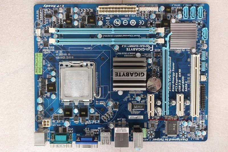 ФОТО 100% original Free shipping desktop motherboard for Gigabyte GA-G41MT-S2 G41MT-S2 DDR3 LGA775 free shipping