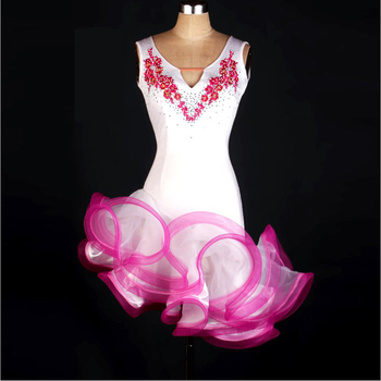 Latin Performance Dance Skirt Women/Girls Roupa Infantil Feminina Cha Cha Rumba Samba Latin Competition Dancing Costumes