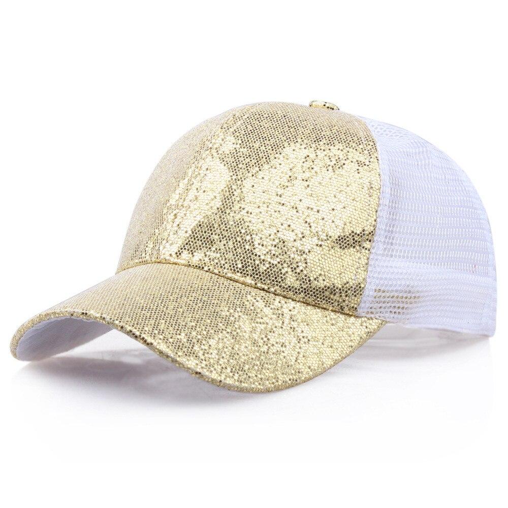 Блестящая бейсбольная кепка с хвостом, женский рюкзак, грязная летняя шапка, Женская регулируемая бейсболка, шляпы в стиле хип-хоп, новая мода - Цвет: GD