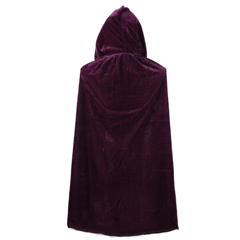 Adult Witch Long Halloween Cloaks Hood and Capes Halloween Costumes for Women Men Cosplay Costumes Velvet Cosplay Clothing in Movie TV costumes from Novelty Special Use
