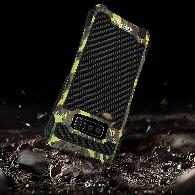 los angeles 5080e cf506 US $15.72 |R JUST Camo For Samsung Galaxy Note 8 Note9 Metal Aluminum Armor  Waterproof Shockproof Powerful Case For Galaxy Note8 S9 S10Plus-in Fitted  ...
