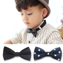 Children Fashion flower Bow tie Boy Gril Baby Classic Solid Color Bowtie Green Red Black White Green Cravate ties for Kid Child(China)