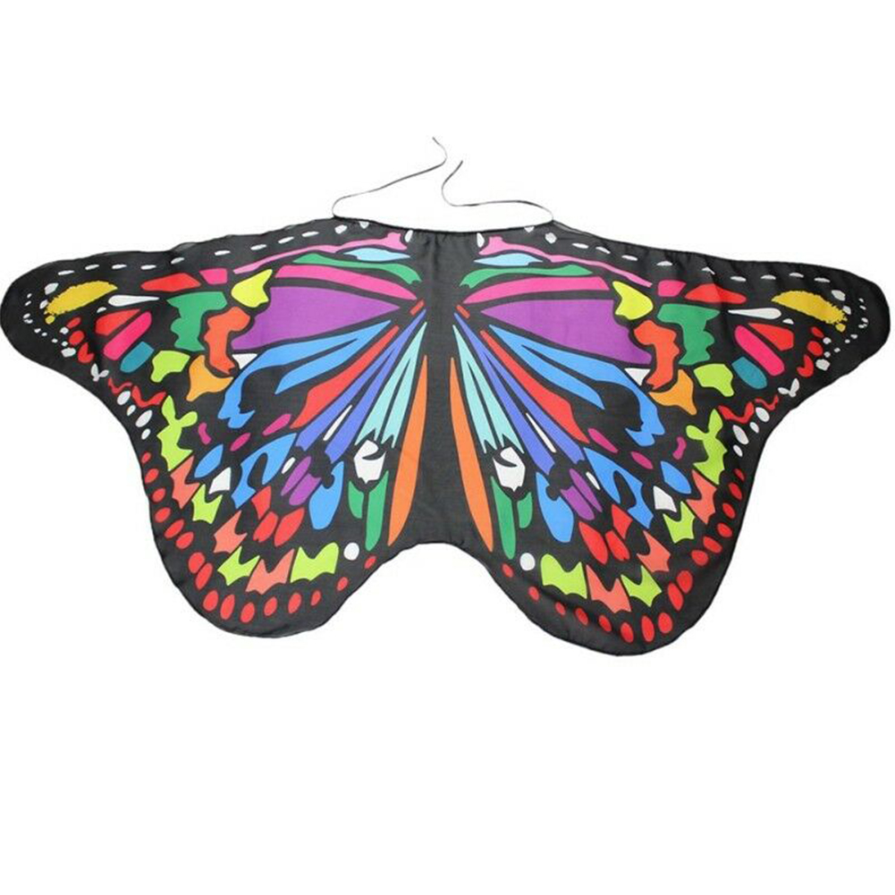 Ladies Child Fantastic Rainbow Multi Butterfly Fairy Dress Up Sets Wings Wand