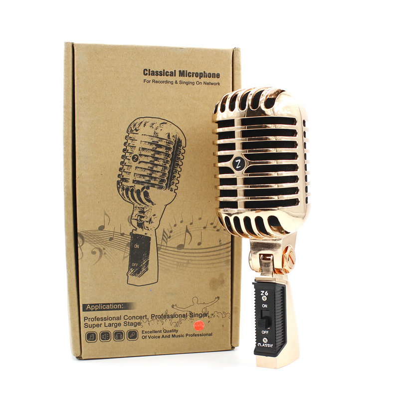Professional Retro Microphone Speaker Jazz blues Microphone With Metal Mesh Classic Dynamic Wedding Booth Mic