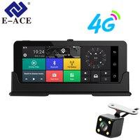 E ACE Автомобильные видеорегистраторы 7 дюймов 4G android даш камеры Двойной объектив gps навигатор ADAS Full HD 1080p регистраторы авто видео регистратор