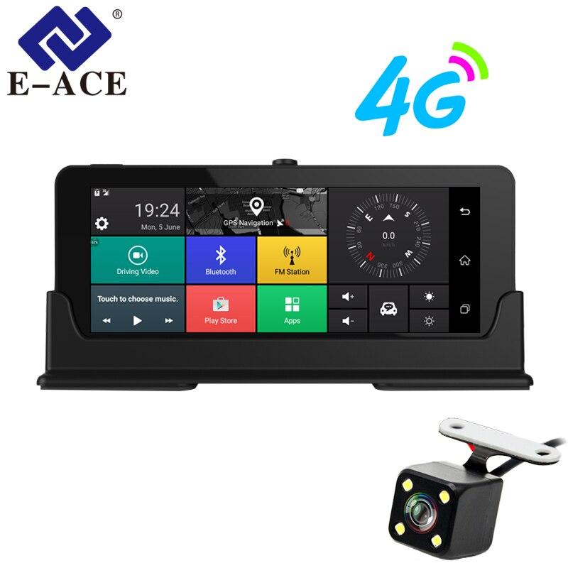 E-ACE Auto Dvr 7 pollice 4g Android Dash Camera Doppia Lente GPS Navigatore ADAS Full HD 1080 p Dash cam Auto Video Registrar Recorde