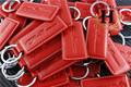 40pcs Metal Key chain Ring ALFA ROMEO Keychain Key ring for Mito 147 156 159 166 Giulietta Spider GT Car Logo emblem Badge