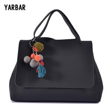 Famous Brand Design 15 Inch Big Women Tote Bag Pendant Tassel Large Capacity Woman Shoulder Handbag PU Leather Ladies Handbags