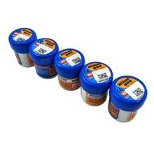 5pcs/lot XG 50 Solder Paste No clean Sn63 Pb37 Flux 20 38 Microns 183 Celsius Melt Point XG50 Mechanic Solder Soldering Flux