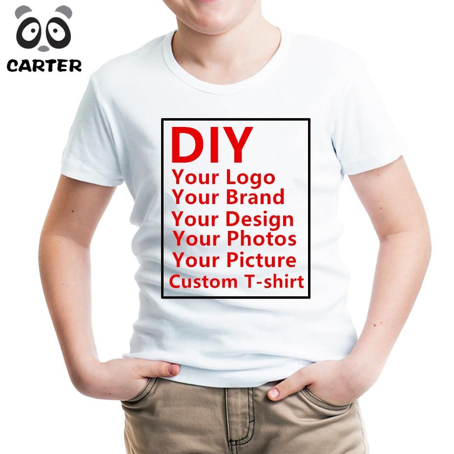 Children Customized Print T Shirt Kid Print Your Own Design Kids T