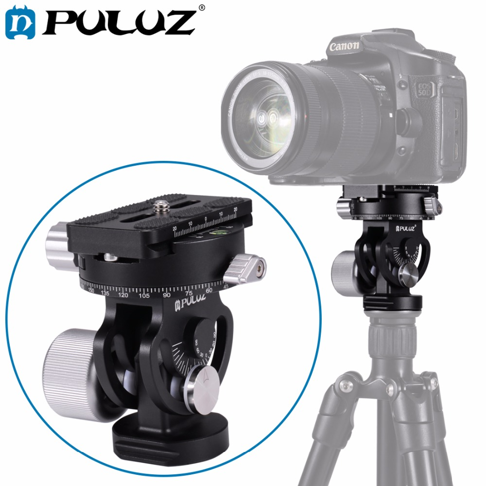 PULUZ 2 Way Pan/Tilt Tripod Head Panoramic Bird Watching Photography Head w/Quick Release Plate 3 Bubble Level Carry Bag 50pcs lot wire hanger fastener hanging photo picture frame quick easy clutch release nickel plate movable head ceiling
