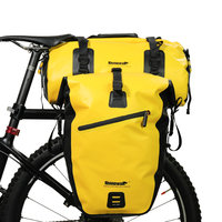 Rhinowal Full Waterproof Bicycle Luggage Bags Multi Travel Bag Road Bike Rear Rack Trunk Cycling Saddle Storage Pannier 20L 27L