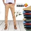 Primavera otoño hombres moda delgado estilo recto delgado pantalones de los hombres pantalones largos ocasionales