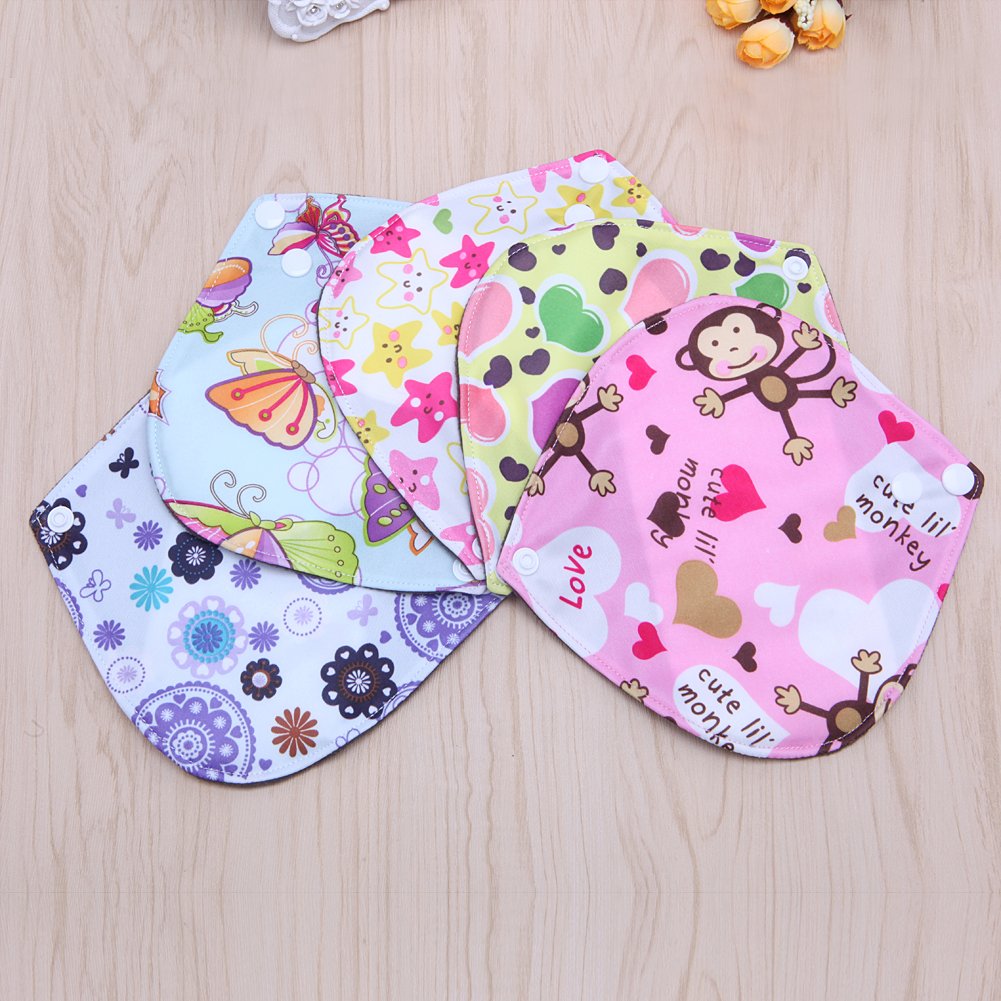 7*7 Inch Menstrual Pads Reusable Washable Bamboo Cloth Sanitary Maternity Minky