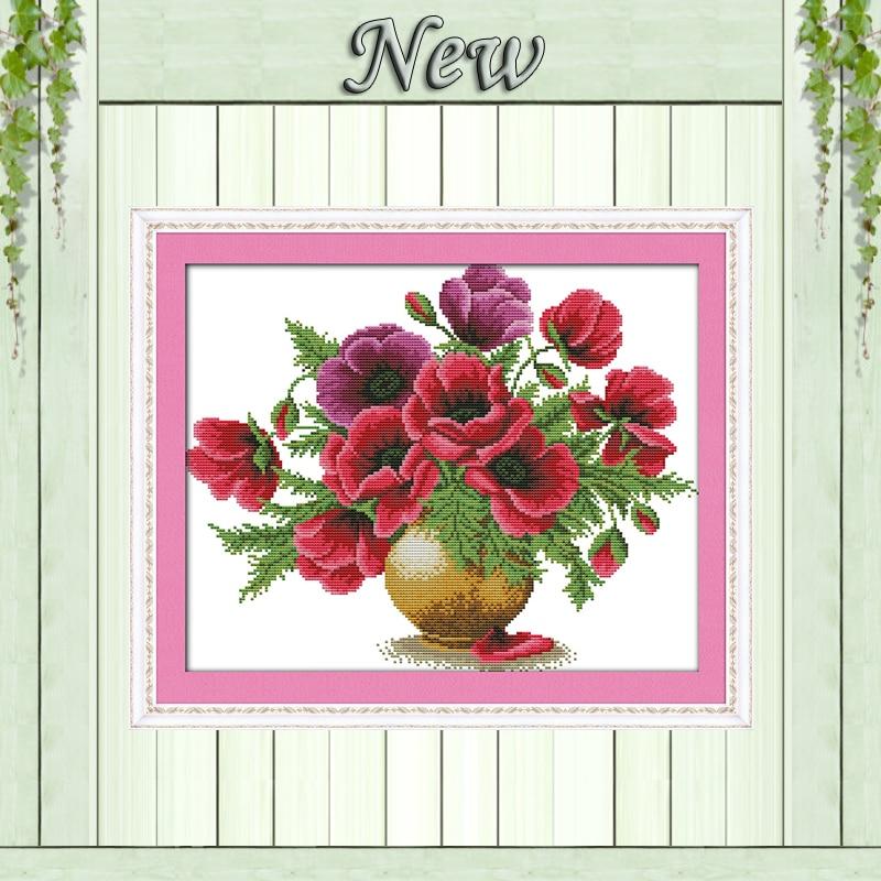 ფერადი ყაყაჩოს ყვავილის - ხელოვნება, რეწვა და კერვა - ფოტო 1