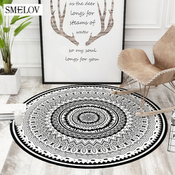 Round Carpet 3D printed Red rose carpet rug bedroom bedside Bathroom Computer Chair Antislip Mat Floor Mat Romantic Home Decor
