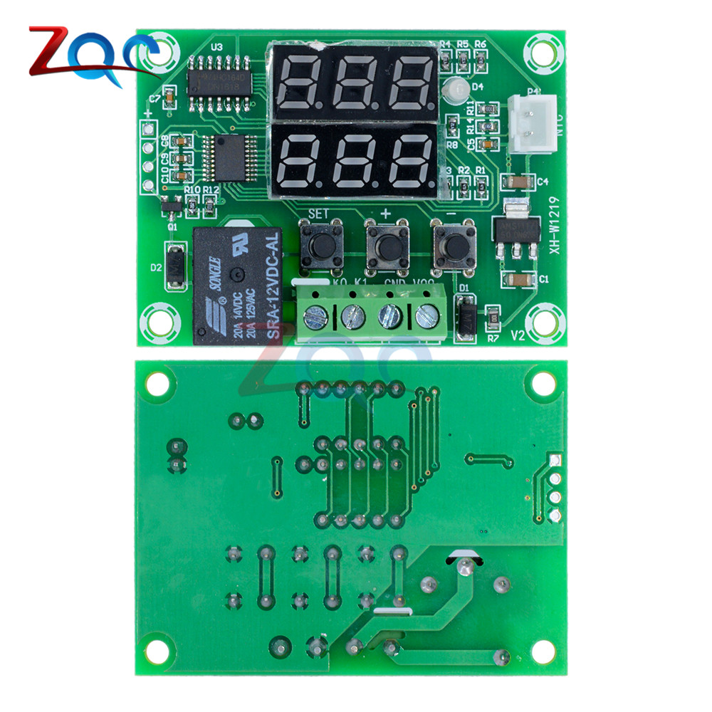 W1209WK W1209 WK W1219 DC 12V LED Digital Thermostat Temperature Control Thermometer Thermo Controller Switch Module +NTC Sensor 17