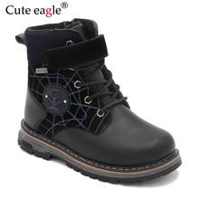 Winter Boots For Boys Felt Boots Little Kids Woolen Plush Warm Snow Boots For Boy's Waterproof Martin Boots  EU Size 27-32 все цены