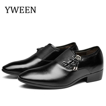 YWEEN Mens Dress Shoes Classic Point Toe Fashion Men Business Party Drop Shipping Slip-On Size 38-47