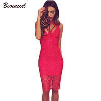 New Clolr 2019 Fashion Women Lace Patchwork Bandage Dreses Sleeveless High Neck Backless Bodycon Celebrity Evening Party Dress