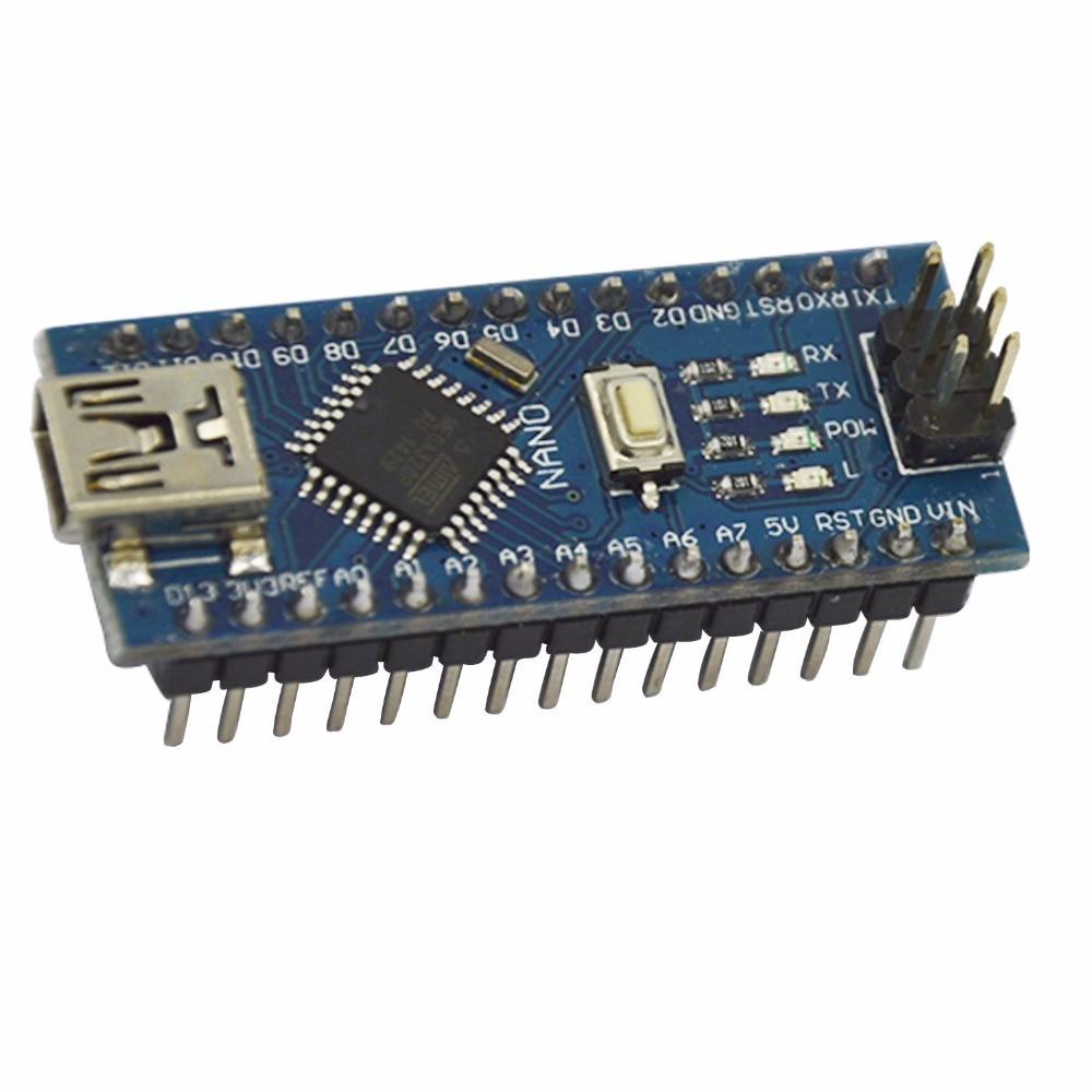 5pcs/lot Nano 3.0 controller compatible with nano CH340 USB driver NO CABLE for Arduino NANO V3.0  No welding #J253