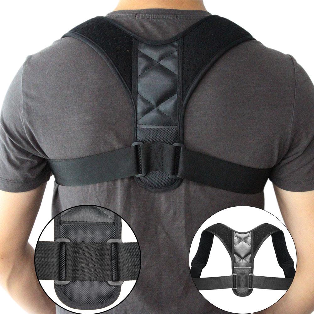 Verstellbarer Körperhaltung-Korrektor Rückenwirbelsäule Schlüsselbein Rücken Schulter Lendenwirbelgurt Taillenhaltung korrigiert den Abstieg