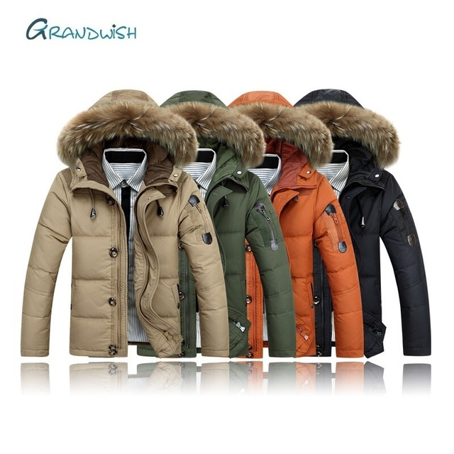 Get Discount Price Grandwish Brand Winter Jacket Mens New Casual Jacket Parka Coat Men Down Keep Warm Fashion Coats Jackets Plus Size M-3XL, DA907