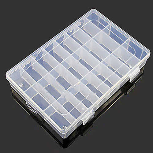 ที่มีประโยชน์ 24 ช่อง CLEAR พลาสติกกล่องเครื่องประดับต่างหูกรณีคอนเทนเนอร์ร้อน