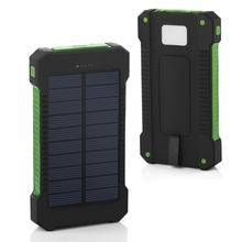 Waterproof 20000mAh Solar Power Bank Portable Solar Charger 2 USB Ports Battery Powerbank with LED Light Mobile Phone Charger стоимость