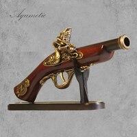 Aqumotic Seguro Arma Modelo De Madeira Decoração Retro Sala Decorativo Arma Decorações Do Partido Tema Grandes Sinais Arte Decoração da parede Estilo Cowboy arma