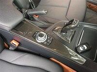 Dry Carbon Fiber Interior Fit For 2014 2016 F30 F31 F34 F35 M3 F80 F32 F33 M4 F82 F83 LHD iDrive Control Panel Cover Car styling