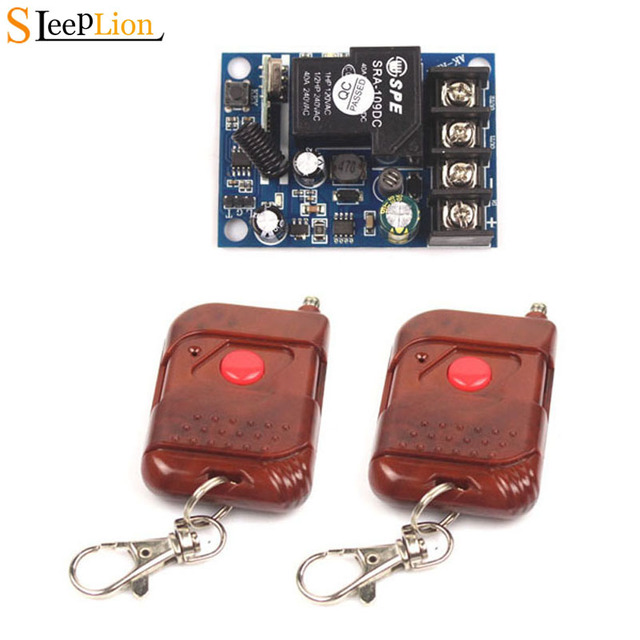 Sleeplion Wide Volt 12 48V 12V 24V 36V 48V 40A 1CH RF Wireless Remote Control Switch System teleswitch+Receiver Multi Model