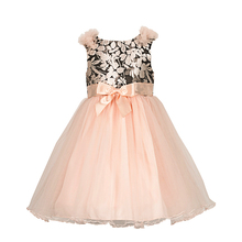 Yatheen Little Girls 2-6X Metallic Jacquard/Tulle Floral Dress Kids Party Dresses