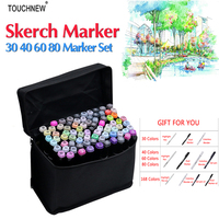 Touchnew 168 Colors Artist Painting Art Marker Alcohol Based Sketch Marker For Drawing Manga Design Art