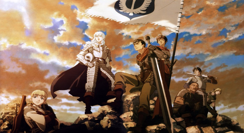 Berserk Golden Age Arc large sizes custom made Berserk poster fabric silk poster print Home Decoration Colorful <font><b>120x60</b></font> cm image