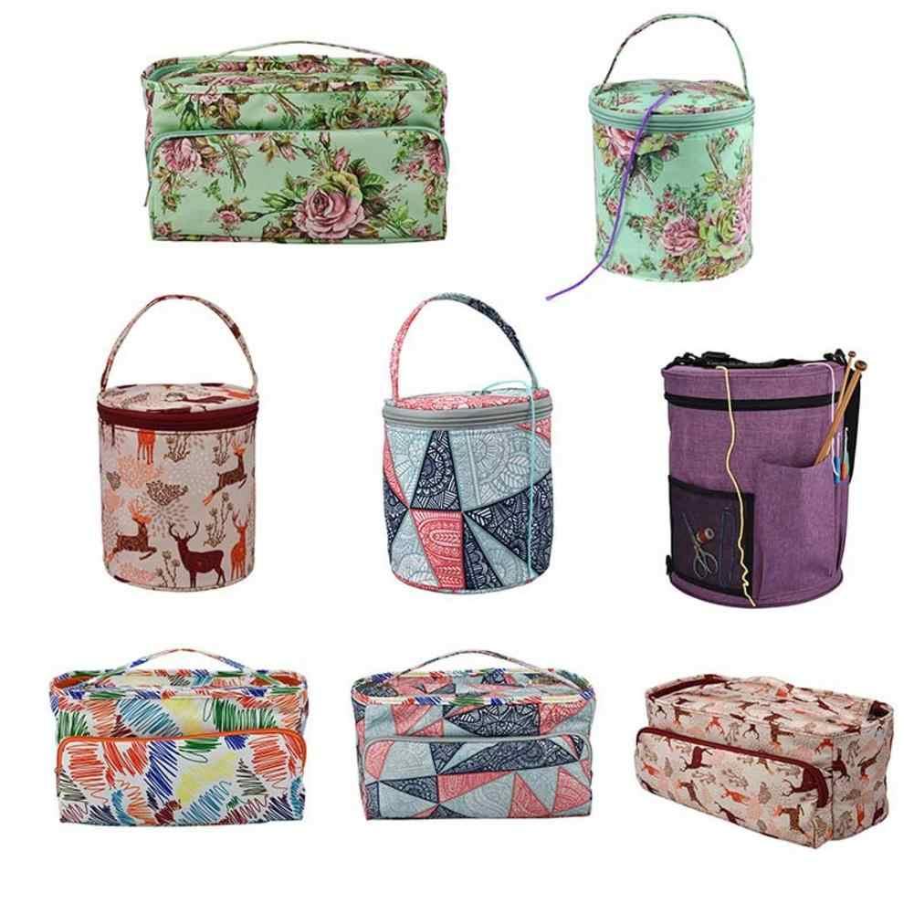 Yarn Storage Sewing Needle Hand Bag Weaving Tool Storage Bag Household Daily Finishing Storage Bag Betfandeful Yarn Storage Bag Green