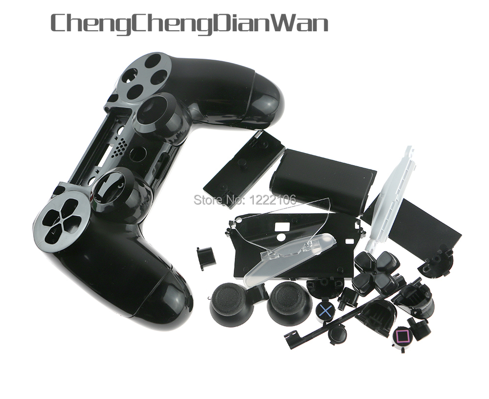 ChengChengDianWan JDM-001 JDM-011 Colorful Shell Case With Button Kits For PS4 Playstation 4 Controller Housing Shell Case Cover