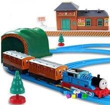 Thomas y sus amigos eléctrico Thomas trenes conjunto con juguetes ferroviarios Para niños niños niños juguetes Jugetes Para Ninos