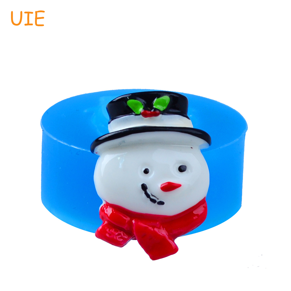 ộ_ộ ༽Envío libre JYL118U 30mm molde de silicona de muñeco de nieve ...
