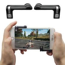 1 par de Jogos Gatilho Botão de Fogo Objetivo Chave Inteligente Controlador Atirador Para PUBG L1R1 Jogos de telefone Móvel/Regras de sobrevivência/Facas Para Fora