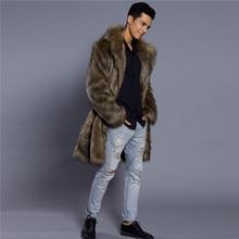LANSHIFEI 2019 Fur Jackets Men Slim Fit Casual Outwear Faux fur Jacket